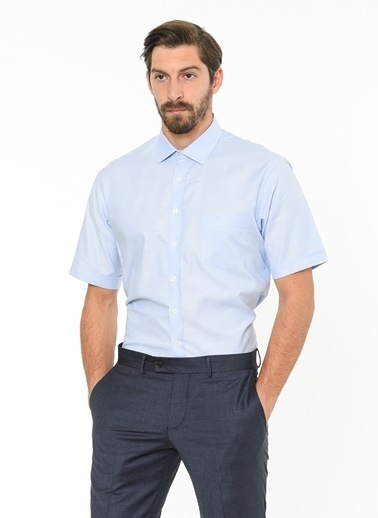 Beymen Business Kısa Kollu Gömlek Mavi